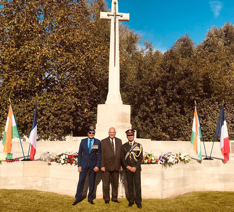 Commemorative ceremony at Lillers Military Cemetery 06 Oct 2018