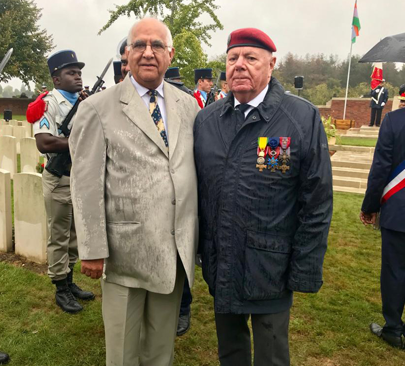 Commemorative Ceremony at Merville Military Cemetery on 23 Sep 2018