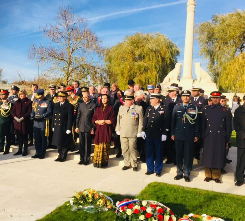 Commemorative ceremony 03 Nov 2018 at Neuve Chapelle